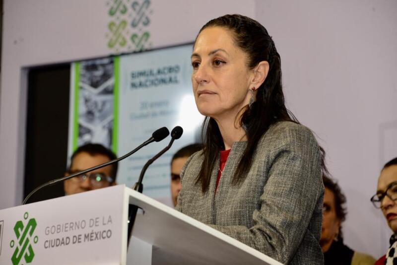 La jefa de Gobierno, Claudia Sheinbaum, dio detalles sobre el macrosimulacro en CDMX. Foto: Gobierno CDMX