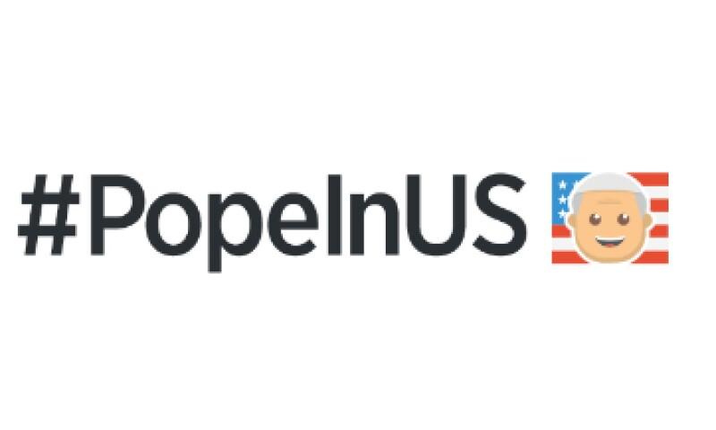 Al escribir el 'hashtag' #PopeInUS, se activa un emoji temático (Foto: Twitter )