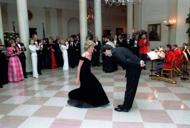 Lady Di y John Travolta