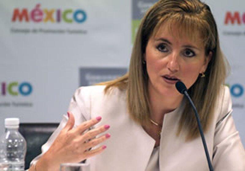 Gloria Guevara, titular de la Sectur, dijo que este año han llegado a México 21.4 millones de turistas extranjeros. (Foto: Notimex)
