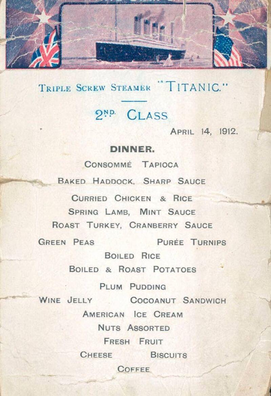 Este es el menú de la cena para la segunda clase.