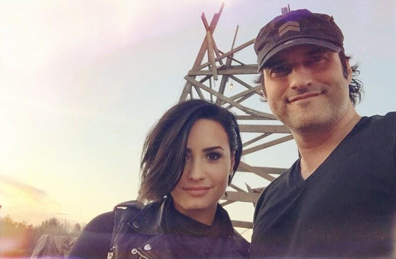 Demi Lovato y Robert Rodriguez estuvieron filmando en Texas.
