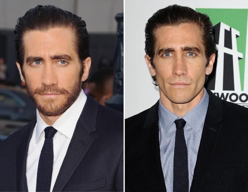 """El actor se presentó a mediados de septiembre en la premiere de """"Prisoners"""" con su barba y peso regular. Pero el lunes, en una gala, lució mucho más delgado."""