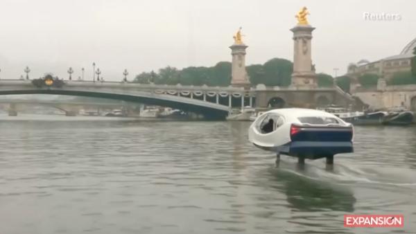 'Burbuja' es el taxi acuático que quiere conquistar París