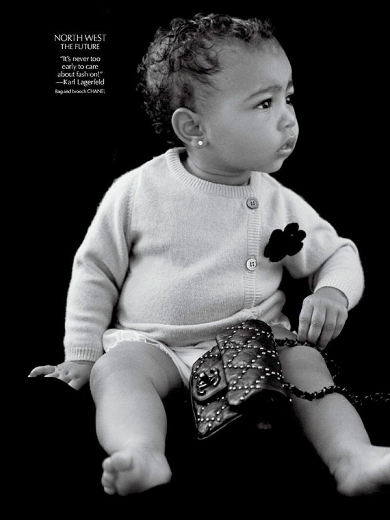 La bebé de poco más de un año de edad debutó en el CR Fashion Book luciendo creaciones Chanel.