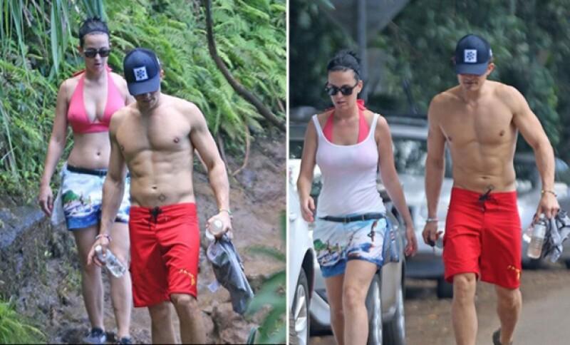 Katy y Orlando ya habían sido visto juntos anteriormente, pero nunca tan enamorados.