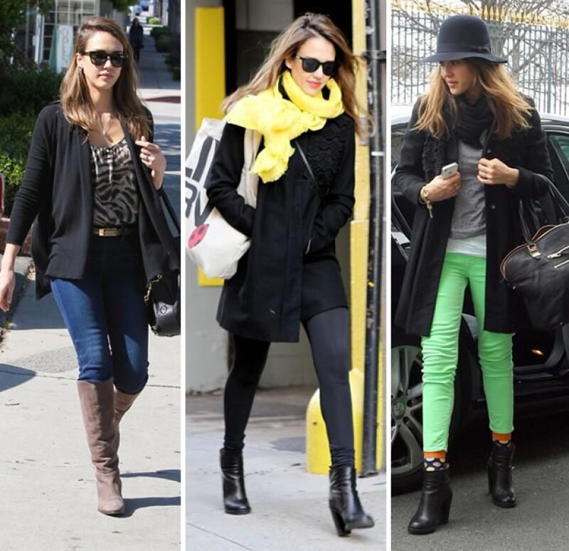La actriz y madre de dos pequeñas nos hace creer que su look es accesible... y ahí está la clave de su estilo. Descubre las piezas que conforman su outfit y ¡cópiale!