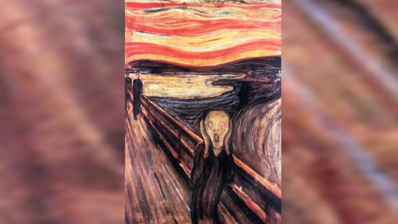 una version del grito, de Edvard Munch
