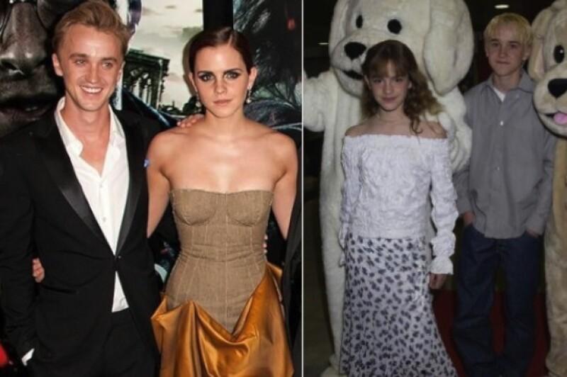 Emma Watson estuvo enamorada de Tom Felton de los 10 a los 12 años.