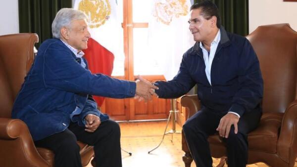 AMLO y Aureoles se comprometieron a trabajar en favor de los michoacanos.