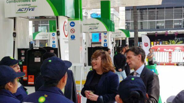 BP estaci�n gasolinera en F�lix Cuevas