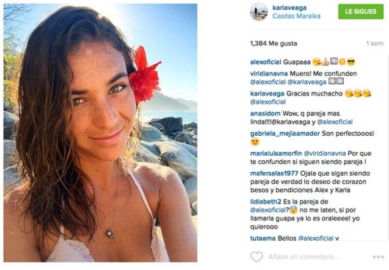Karla subió una imagen desde Casitas Puerto Vallarta, la cual hizo eaccionar al cantante.