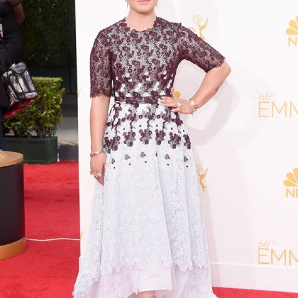 Kelly Osbourne con un vestido Honor y zapatos Aldo