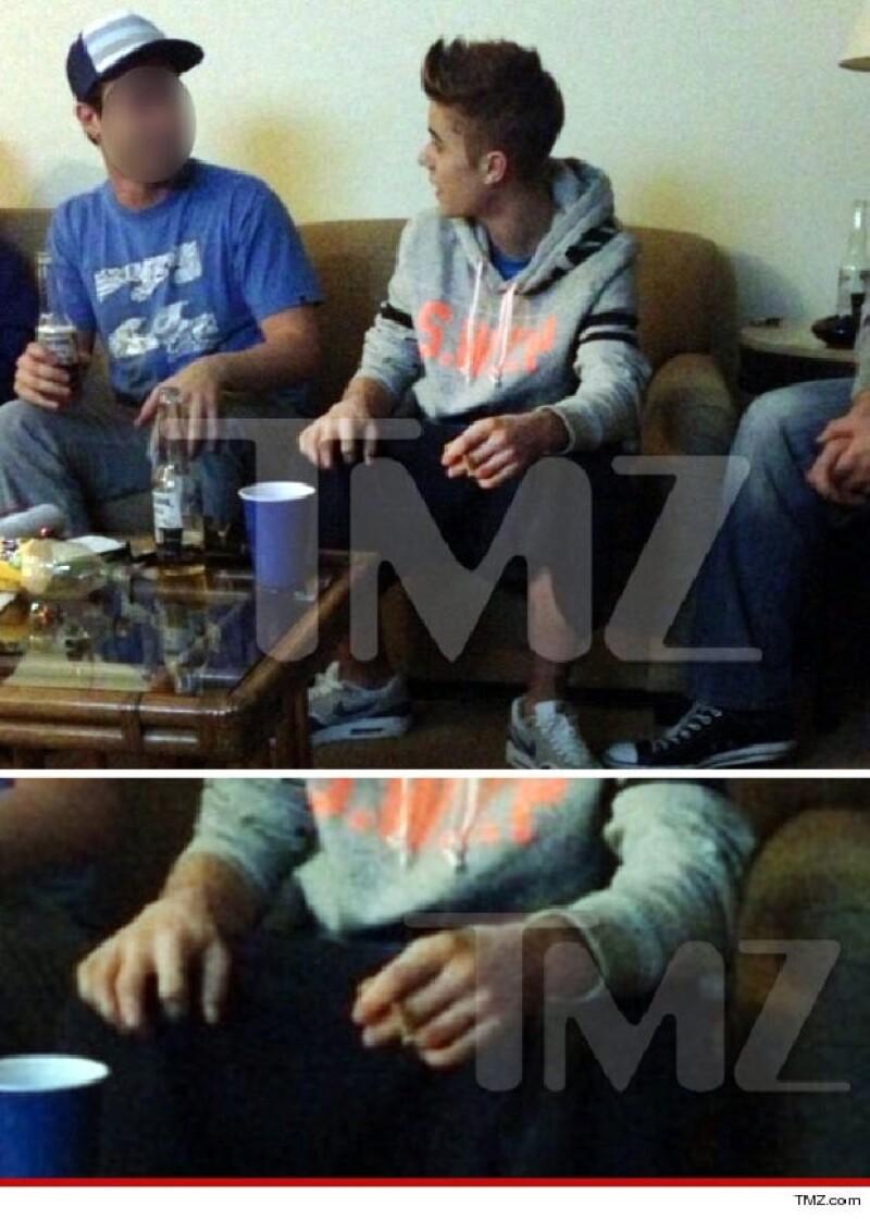 Justin Bieber causó revuelo con esta foto.