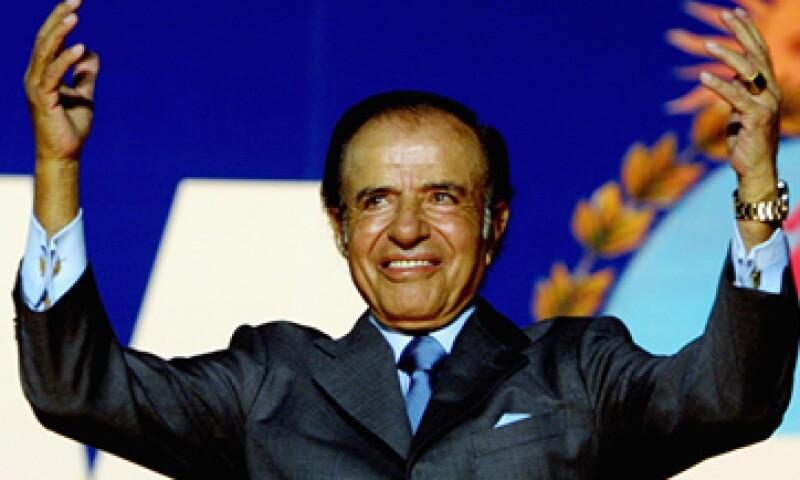 Carlos Menem fue presidente de Argentina de 1986 a 1999. (Foto: Getty Images)