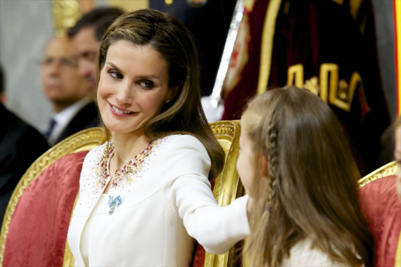 Letizia mostró su cariño a la nueva princesa de Asturias.