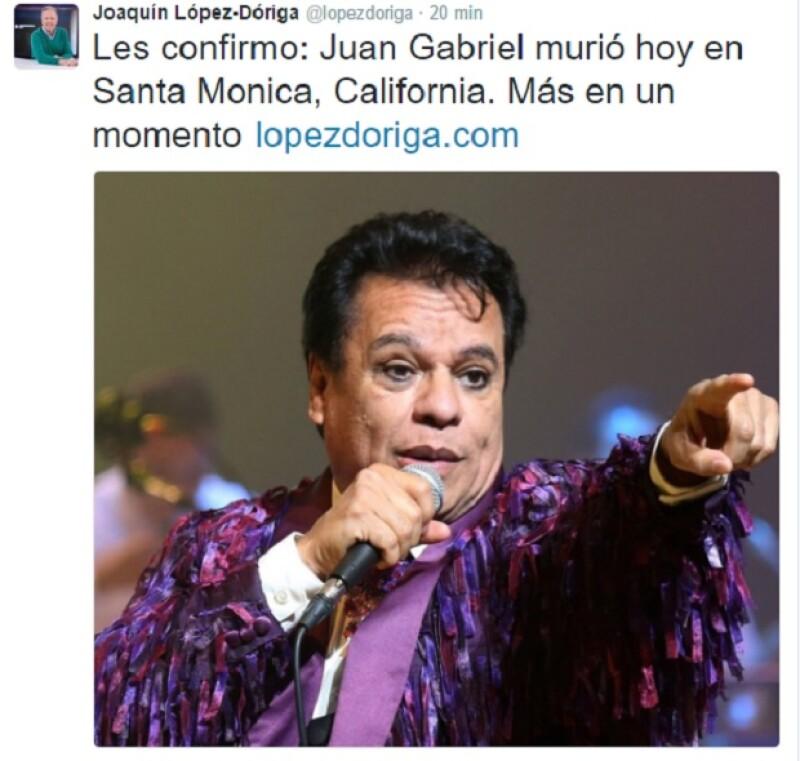 Posteriormente Joaquín confirmó la noticia.