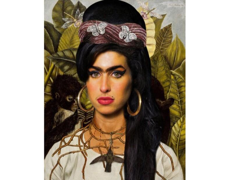 La desaparecida cantante británica fue `unida´ a la imagen de la pintora mexicana, gracias a la creatividad de la artista argentina Carolina Gallo.