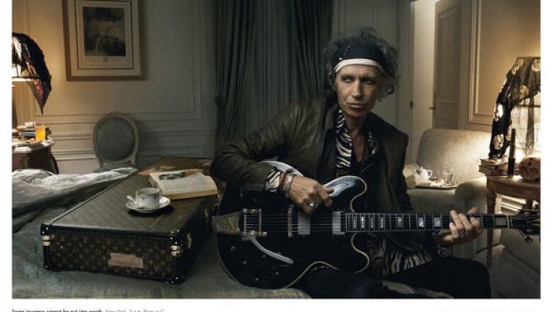 El icónico Keith Richards también es parte de los grandes personajes de Louis Vuitton. Aunque tenemos que admitir que esta foto nos hubiera gustado más con todos los integrantes de The Rolling Stones.
