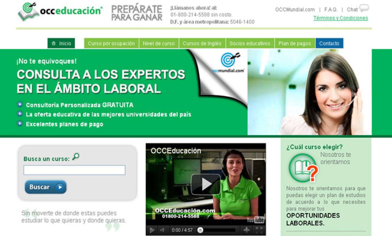 Uno de los servicios digitales que da OCCMundial, consiste en proveer asesoría personalizada a los usuarios para que incrementen su competitividad a través de la educación.