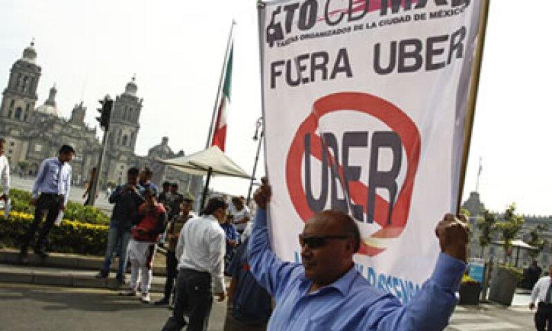 Los taxistas partirán del Ángel de la Independencia hasta el Zócalo. (Foto: Cuartoscuro )