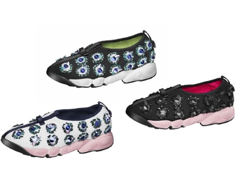 Los Fusion Sneakers de Dior tienen incrustaciones y son muy cómodos.