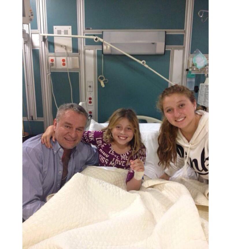 A causa de una apendicitis, la hija de Angélica Rivera y José Alberto Castro fue hospitalizada por lo que recibió las visitas de su familia y amigos más cercanos.