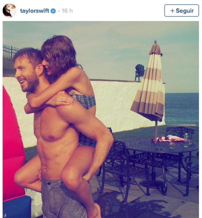Calvin y Taylor muy románticos