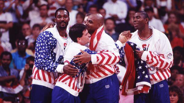 'Magic' Johnson con el 'Dream Team'