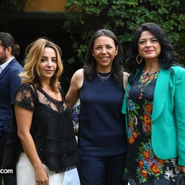 Luisa Serna,Laura Manzo y Alejandra Frausto