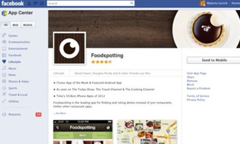 El app center de Facebook entró en funciones el jueves. (Foto: AP)