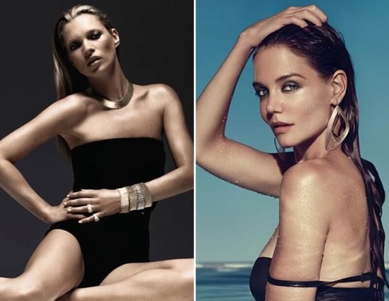 Kate Moss posó para la campaña del aniversario 60 de la firma y Katie Holmes se convirtió en imagen en 2011.