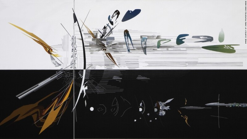Multi-colour on White (1992), de Zaha Hadid