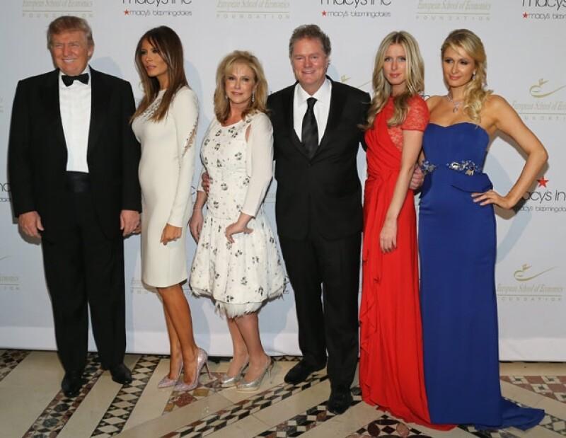 Los Trump y los Hilton. En la imagen no aparece Ivanka.