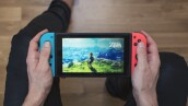 Nintendo Switch neon Game Console