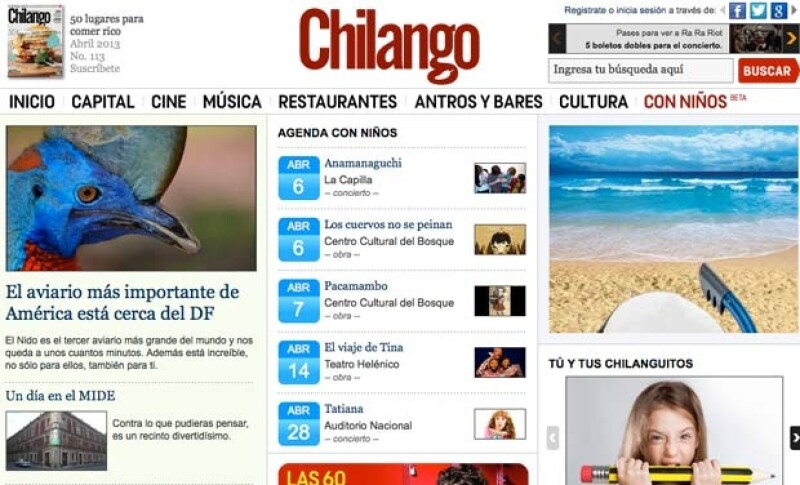 Chilango.com está de estreno con un nuevo canal en el que hará recomendaciones para realizar actividades junto con sus hijos, sobrinos y demás.