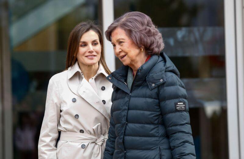 Reina Letizia y Sofía
