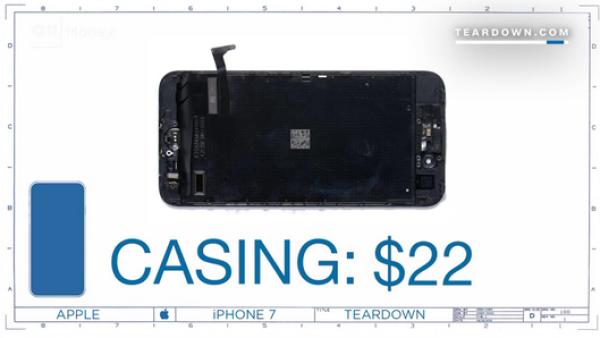 ¿Cuánto cuesta construir el iPhone 7?
