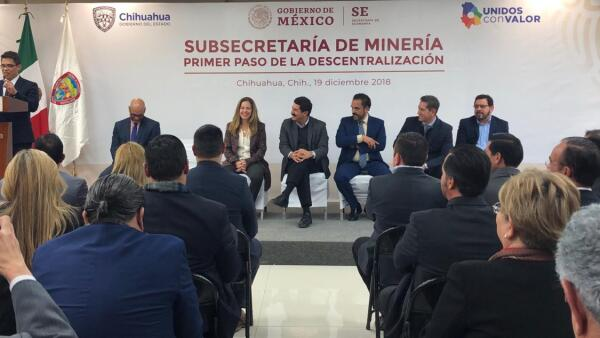 Inauguración de las oficinas de la Subsecretaría de Minería en Chihuahua