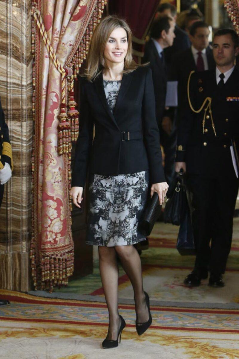 Durante la premiación en el 2014 así acudióa  la reunión del patronato de la Fundación Princesa de Girona.