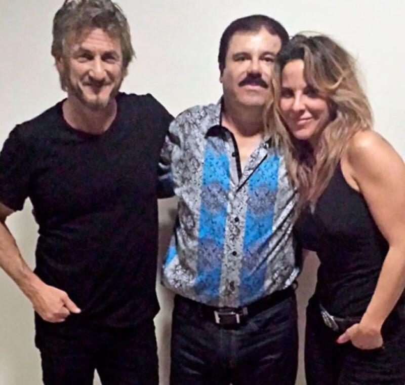 Sean Penn, El Chapo Guzmán y Kate del Castillo