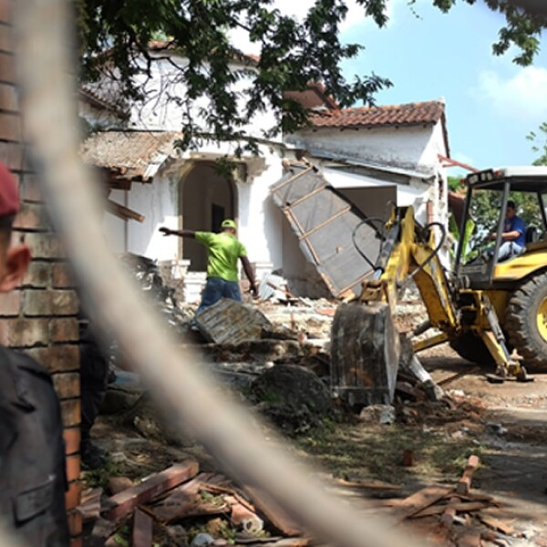 demolicion de la casa de manuel antonio noriega