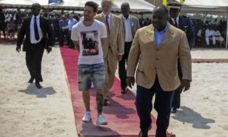 El jugador visitó Gabón del 17 al 18 de julio. (Foto: AFP )