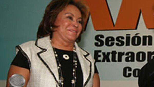 La secretaria general de Nueva Alianza, Mónica Arriola Gordillo, es hija de la dirigente del SNTE, Elba Esther Gordillo. (Foto: Notimex)