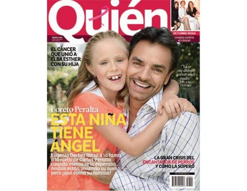 Loreto Peralta y Eugenio Derbez son la porta da la nueva Quién.