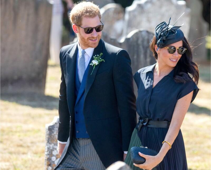 Meghan Markle y Harry en la boda de Charlie van Straubenzee