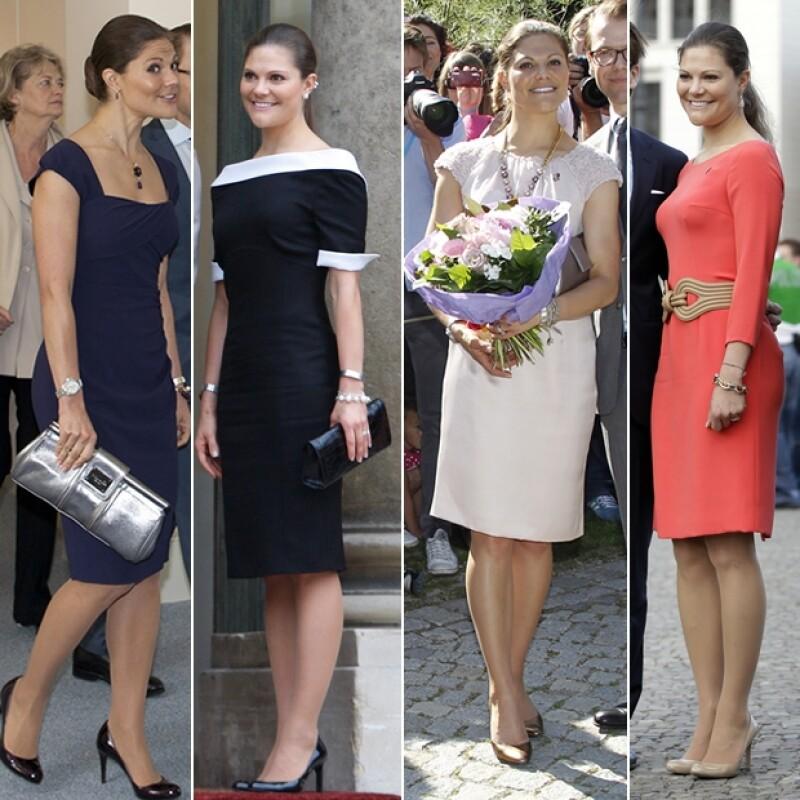Los vestidos a la rodilla son sus favoritos.