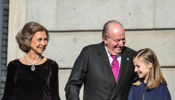 Reina Sofía, Rey Juan Carlos y la princesa Leonor