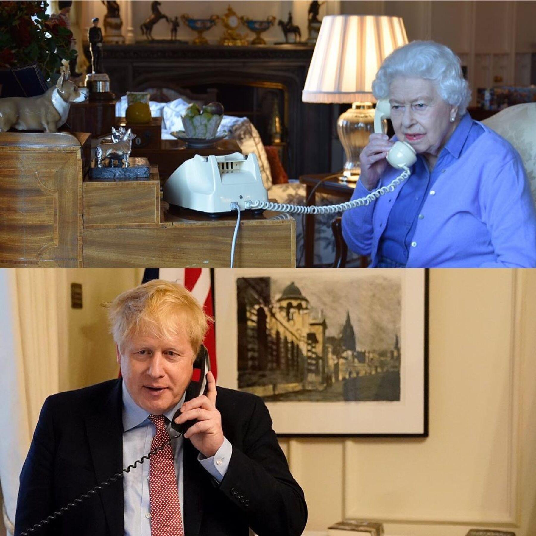 Reina Isabel II y Boris Johnson