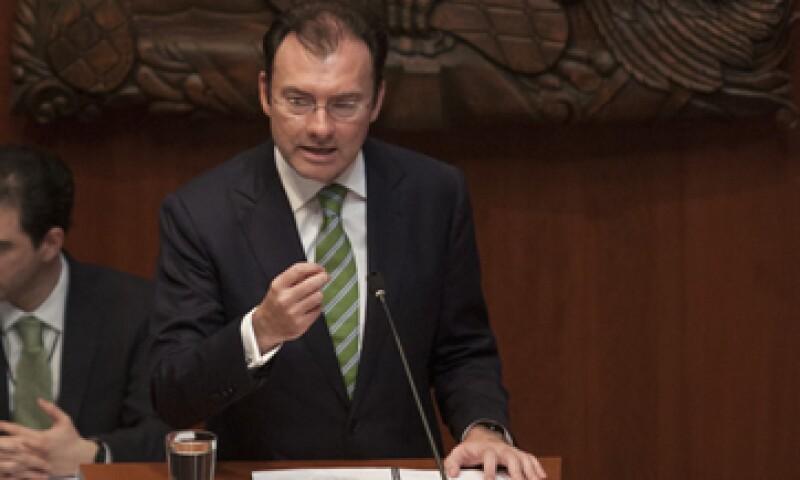 Videgaray compareció en el Pleno de la Cámara de Senadores, con motivo de la Glosa del Primer Informe. (Foto: Cuartoscuro)